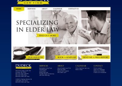 Dudeck Law Firm Website