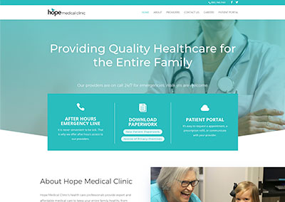 Hope Medical Clinic Website